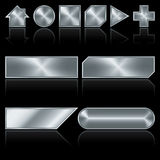 按钮金属 向量例证