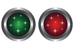 按钮闪烁二 皇族释放例证