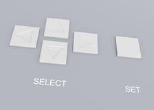按钮面板推进 库存图片