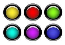 按钮颜色互联网集合万维网 免版税库存照片