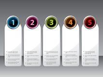 按钮颜色发光的标号组 免版税库存图片