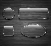 按钮颜色另外玻璃优良品质 库存图片