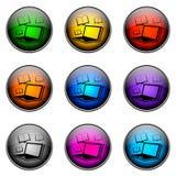 按钮颜色电子教学 免版税库存照片