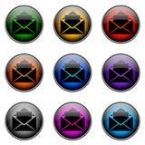 按钮颜色电子邮件 免版税图库摄影