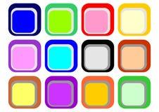 按钮颜色 免版税库存图片