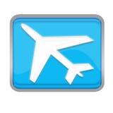 按钮飞机 库存图片