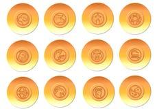 按钮黄道带 向量例证