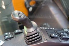 按钮齿轮内部杠杆指点拖拉机 库存照片