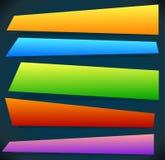 按钮,横幅形状,背景 抽象标记,标签 颜色 库存例证