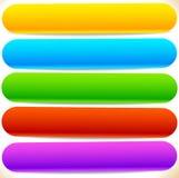 按钮,横幅形状,背景 抽象标记,标签 颜色 向量例证