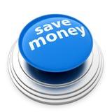 按钮货币保存 免版税图库摄影