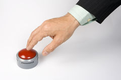 按钮紧急 图库摄影