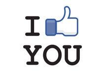 按钮facebook喜欢 库存照片