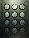 按钮grunge金属电话 免版税库存图片
