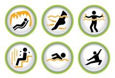 按钮ii图表集合温泉健康 库存例证