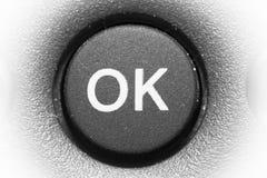 按钮OK 库存照片