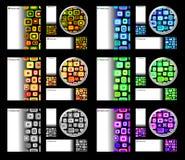 按c看板卡创造性的设计图标模板 免版税图库摄影