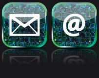 按e光滑的图标例证邮件 库存图片