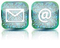 按e光滑的图标例证邮件 免版税库存照片