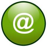 按e绿色图标邮件符号 免版税库存照片