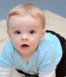 挑剔的男婴 免版税库存图片