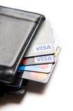 挑选的信用卡 库存图片