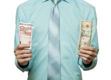 挑选货币 免版税库存图片