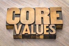 挖出果核价值在葡萄酒木头类型的词摘要 免版税库存照片