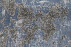 挖坑的蓝色金属盘区难看的东西纹理 库存照片