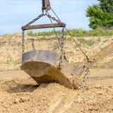 挖掘在黏土的发展砖生产的 图库摄影