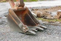 挖掘机反向铲 免版税库存图片