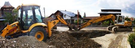 挖掘机和反向铲 免版税库存图片