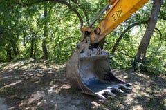挖掘机和自然 图库摄影