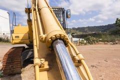 挖掘机工业机器 免版税图库摄影