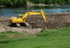挖掘机工作 库存图片