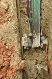 挖掘机开掘 免版税图库摄影