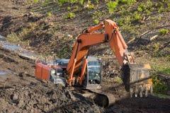 挖掘机开掘 库存图片