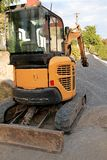 挖掘机推土机 库存图片