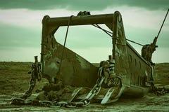 挖掘机桶牵引索 免版税库存照片