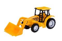 挖掘机玩具白色 免版税库存照片