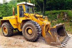 挖掘机的工程设备 库存图片