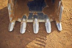 挖掘机的打瞌睡的人挖掘机 免版税库存图片