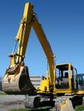 挖掘机的机械垂直 库存图片
