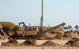 挖掘机的沟槽 免版税库存照片