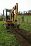 挖掘机的沟槽 库存照片