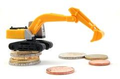 挖掘机的货币 库存图片
