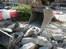 挖掘机的铁锹 库存照片