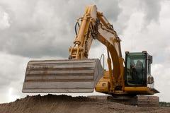 挖掘机铁锹 免版税图库摄影