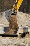 挖掘机铁锹 库存图片
