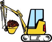 挖掘机黄色 免版税库存图片